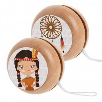 Ξύλινο yo-yo Ινδιάνα