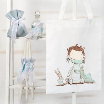 Τσάντα με σετ λαδιού βάπτισης Baby Boy 2020