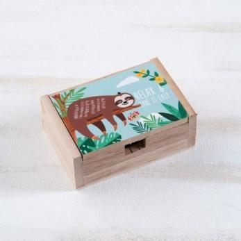 Μπομπονιέρα Βάπτισης Ξύλινο κουτί Βραδύποδας