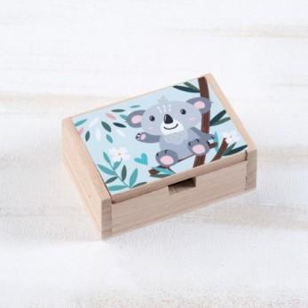 Μπομπονιέρα Βάπτισης Ξύλινο κουτί Koala