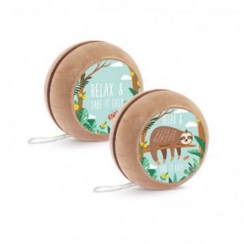 Μπομπονιέρα Βάπτισης Ξύλινο yo-yo Βραδύποδας