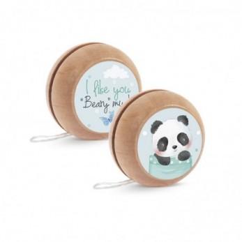 Μπομπονιέρα Βάπτισης Ξύλινο yo-yo Panda