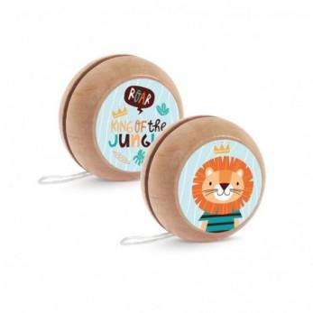 Μπομπονιέρα Βάπτισης Ξύλινο yo-yo Λιοντάρι