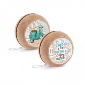 Μπομπονιέρα Βάπτισης Ξύλινο yo-yo Βέσπα