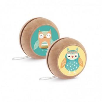 Μπομπονιέρα Βάπτισης Ξύλινο yo-yo Κουκουβάγια