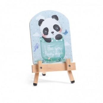 Μπομπονιέρα Βάπτισης Καβαλέτο με καδράκι Panda