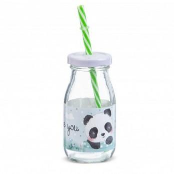 Μπομπονιέρα Βάπτισης Μπουκάλι γάλακτος Panda