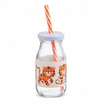 Μπομπονιέρα Βάπτισης Μπουκάλι γάλακτος Τίγρης