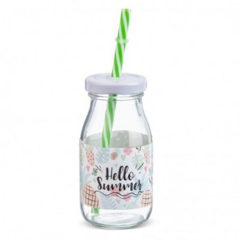 Μπομπονιέρα Βάπτισης Μπουκάλι γάλακτος Hello Summer