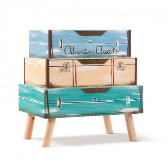 Ξύλινο σκαμπό - κουτί βαπτιστικών