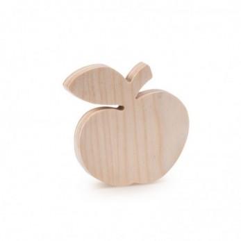 Ξύλινο Διακοσμητικό Μήλο natural