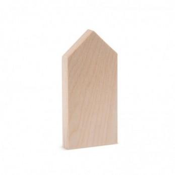 Ξύλινο Επιτραπέζιο Διακοσμητικό Σπιτάκι natural
