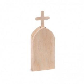 Ξύλινο Επιτραπέζιο Διακοσμητικό Εκκλησάκι natural