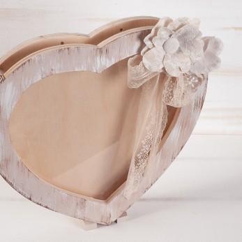 Κουτί Ευχών Καρδιά με plexiglass