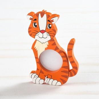 Ξύλινη κορνίζα τίγρη