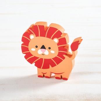 Ξύλινο διακοσμητικό λιοντάρι