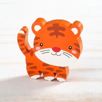 Ξύλινο διακοσμητικό τίγρη
