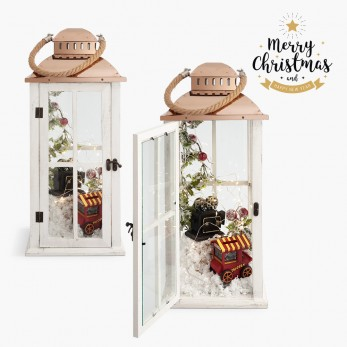 Χριστουγεννιάτικο φανάρι  με φωτάκια led