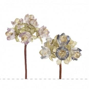 Λουλουδάκι & φύλλα με πέρλες
