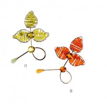 Λουλούδι συρμάτινο καρφίτσα