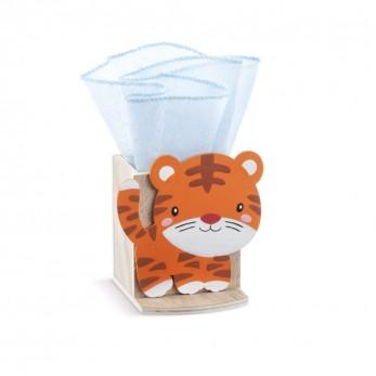 Ξύλινη μολυβοθήκη τίγρη
