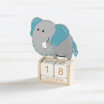 Ξύλινο ημερολόγιο ελέφαντας