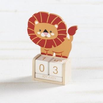 Ξύλινο ημερολόγιο λιοντάρι