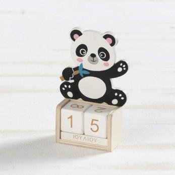Ξύλινο ημερολόγιο panda