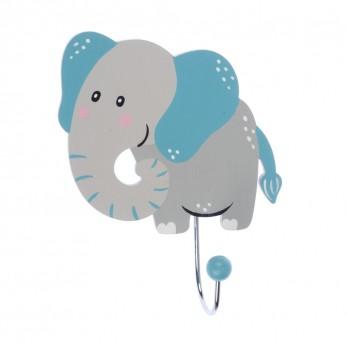 Ξύλινη κρεμάστρα τοίχου ελέφαντας