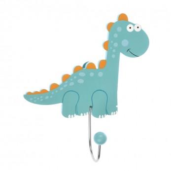 Ξύλινη κρεμάστρα τοίχου δεινόσαυρος