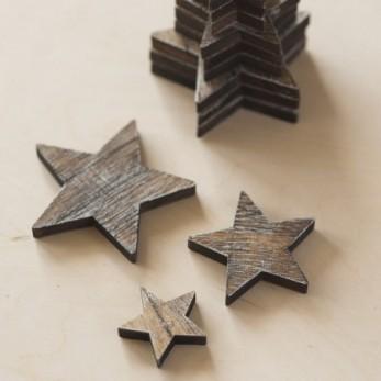 Διακοσμητικά ξύλινα αστέρια